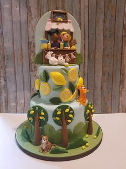 A sweet Summer friends cake!