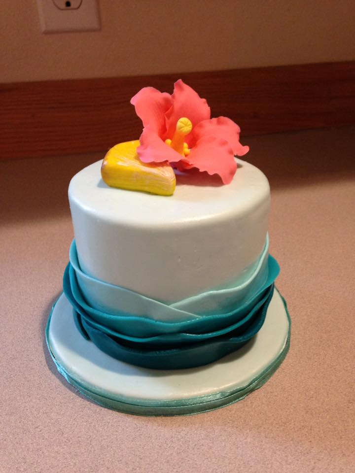 Little Hawaiian smash cake