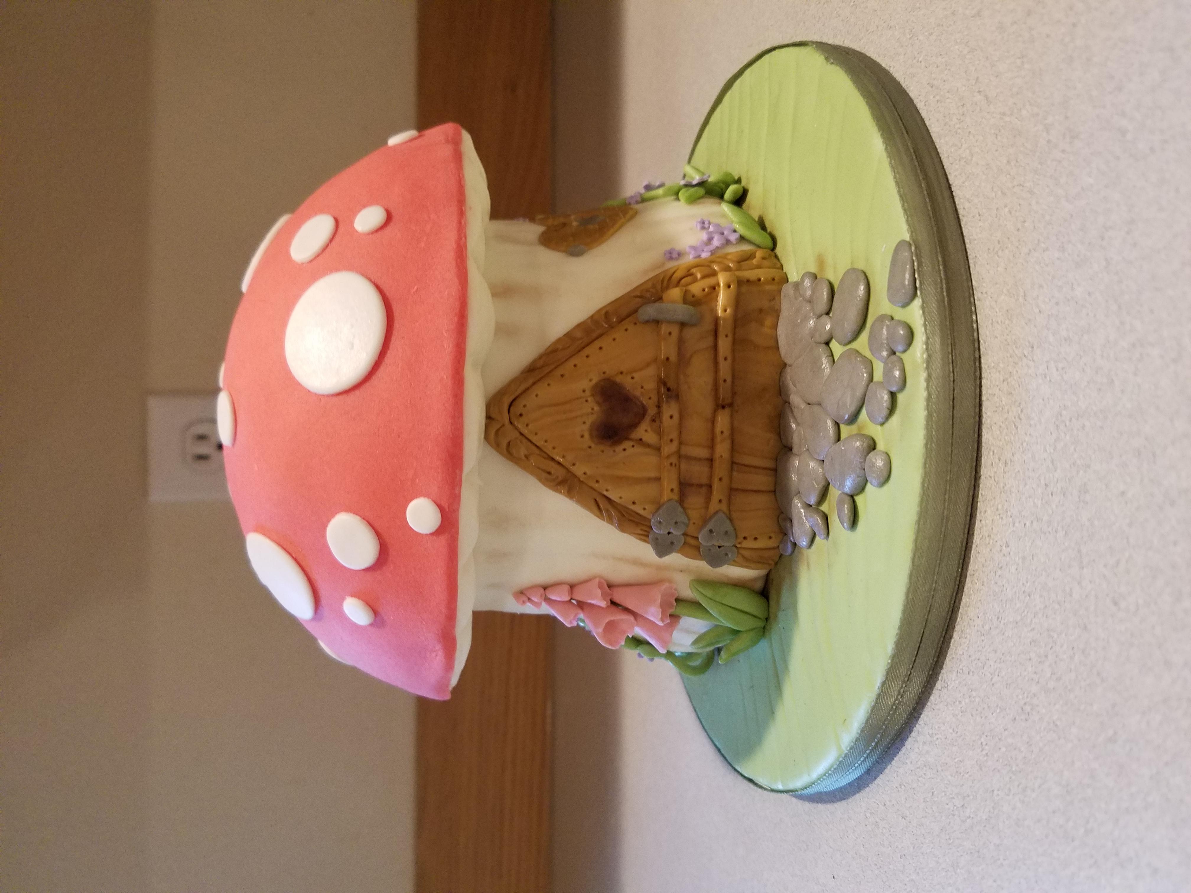 A fairies mushroom house