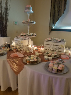 Blush and grey wedding set