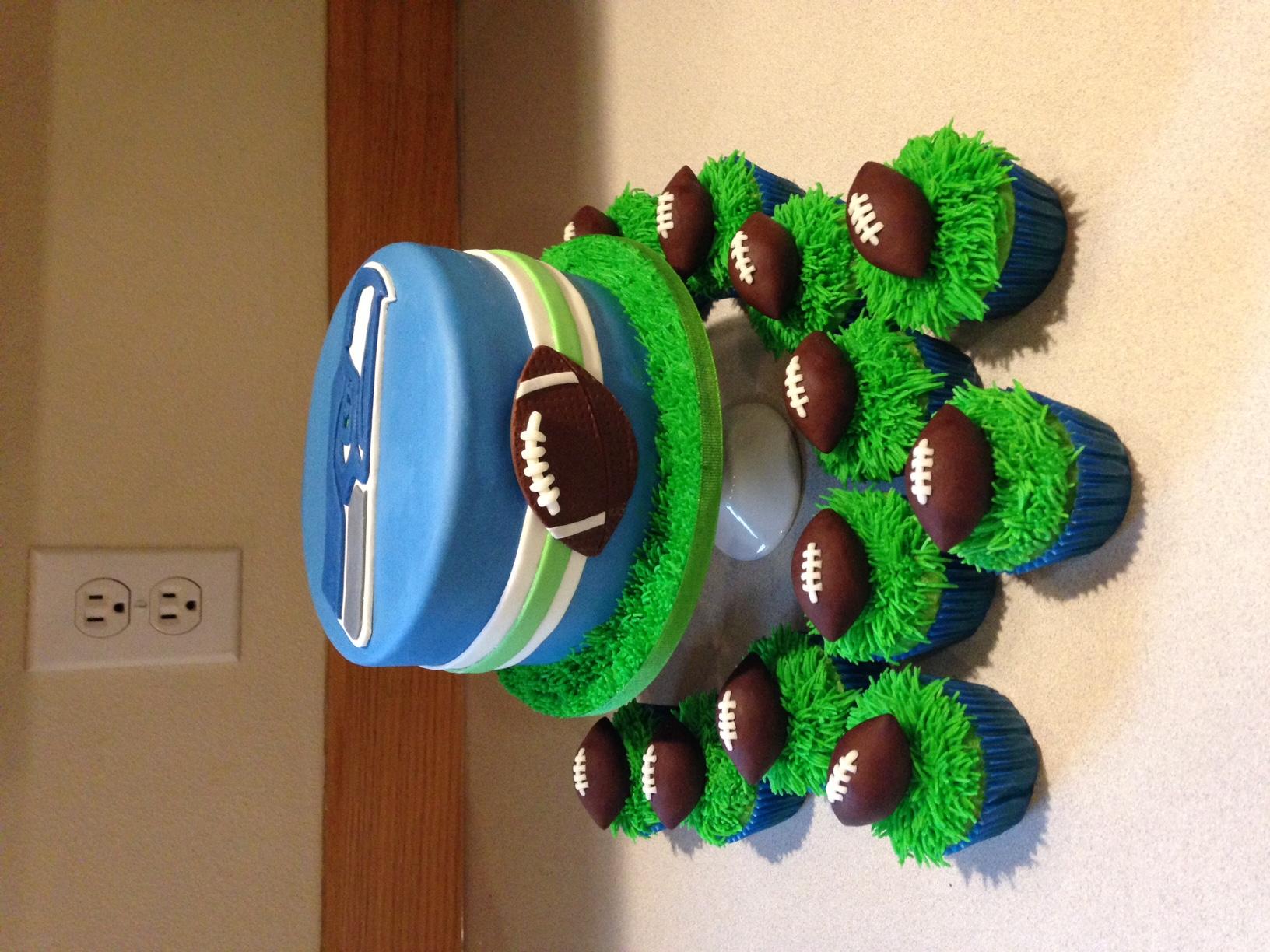 Seahawks cake set
