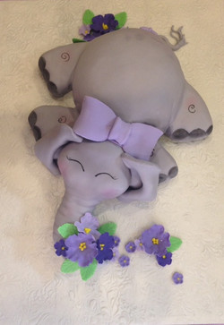 Baby Elephant With Flowers