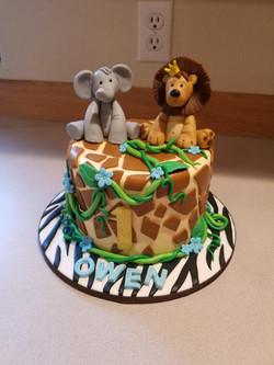 Jungle inspired cake