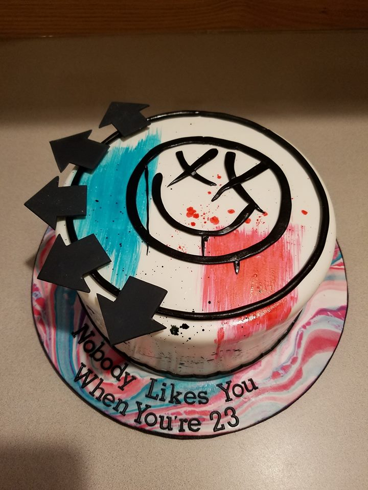 Blink 182 band cover cake