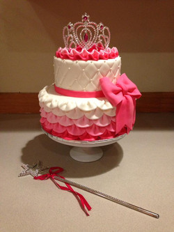 Frilly princess cake.