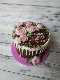 Pretty Chocolate drip Cake