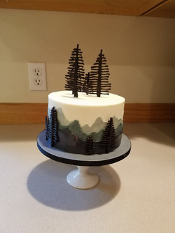 Forest smash cake