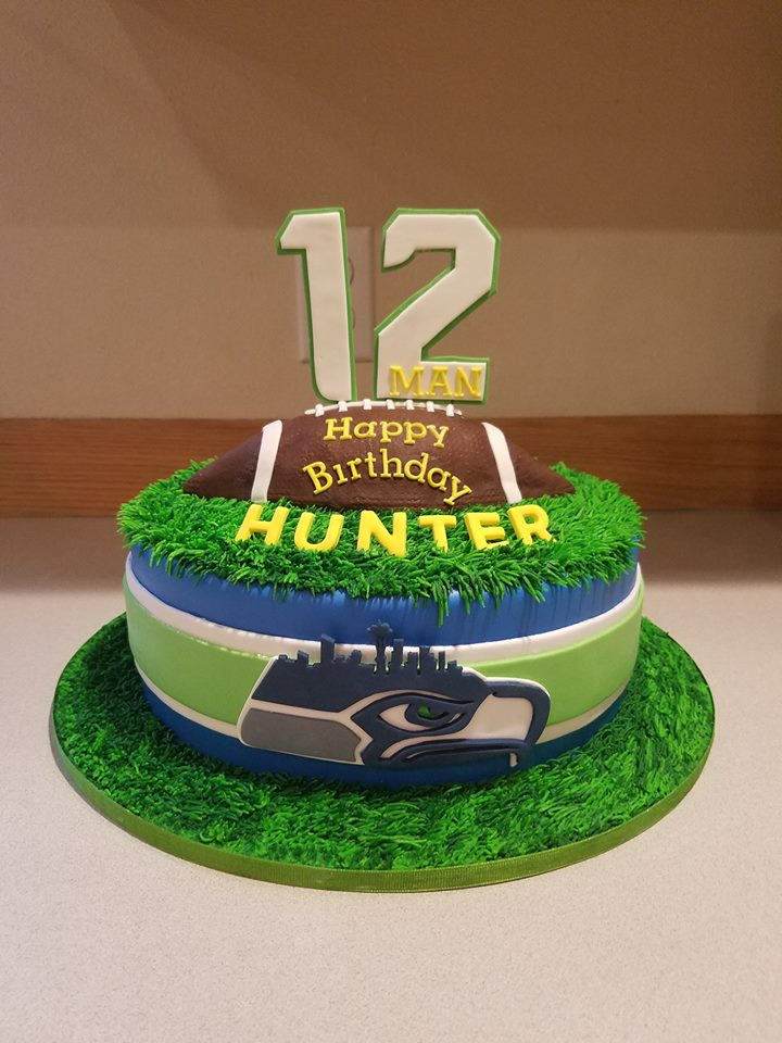 Seahawks Super fan cake