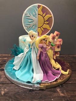 """2 Friends"" Princess Cake"
