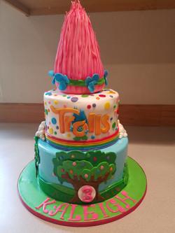 Poppy Troll Cake