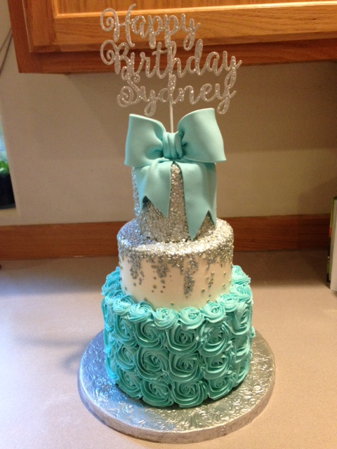 A lovely Tiffany inspired cake