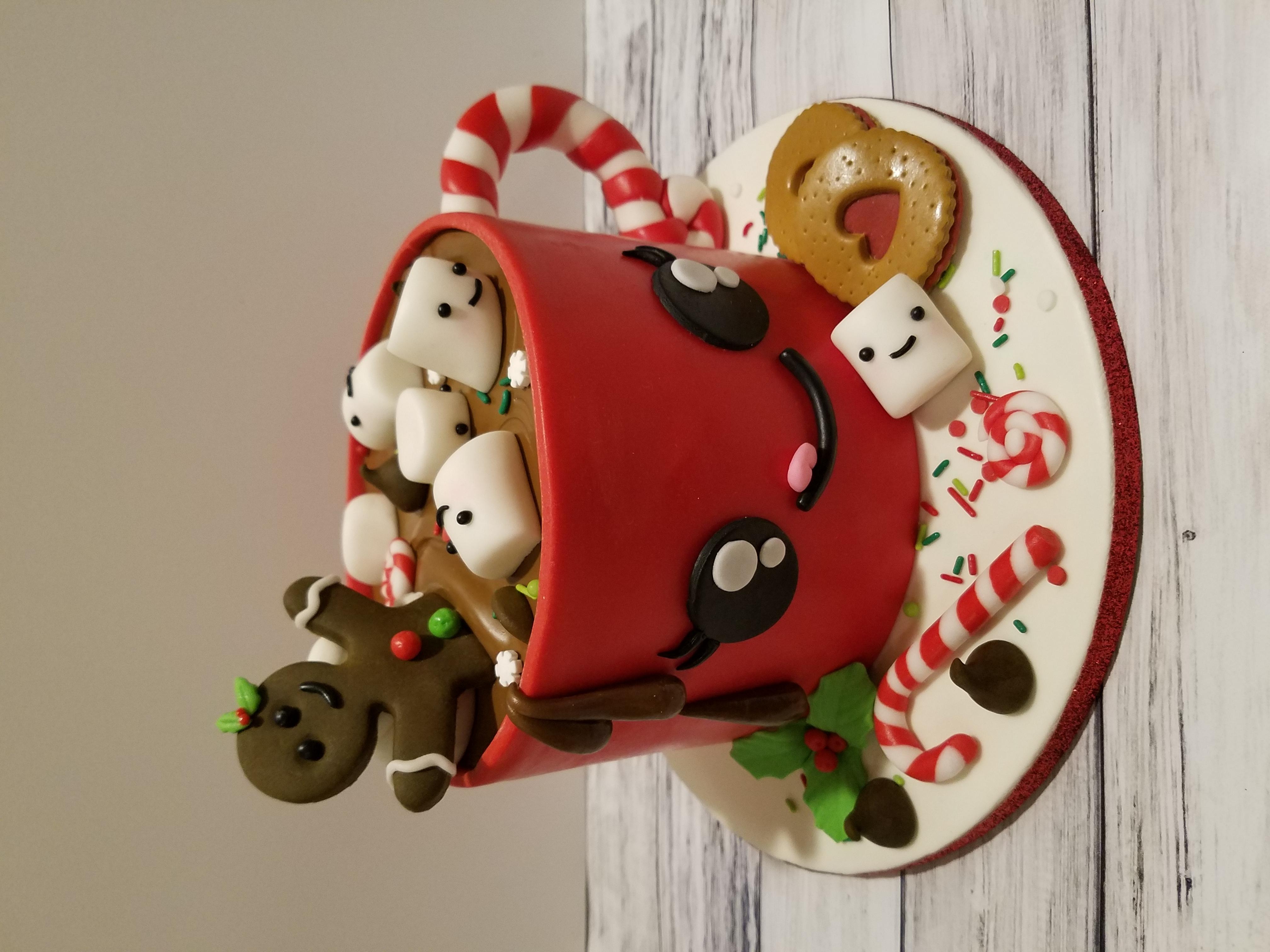 Cocoa mug cake