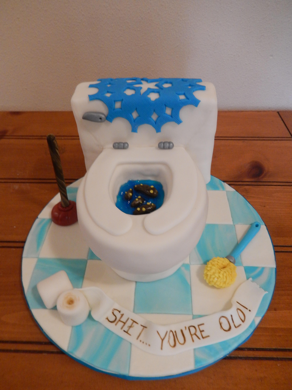 Large toilet cake