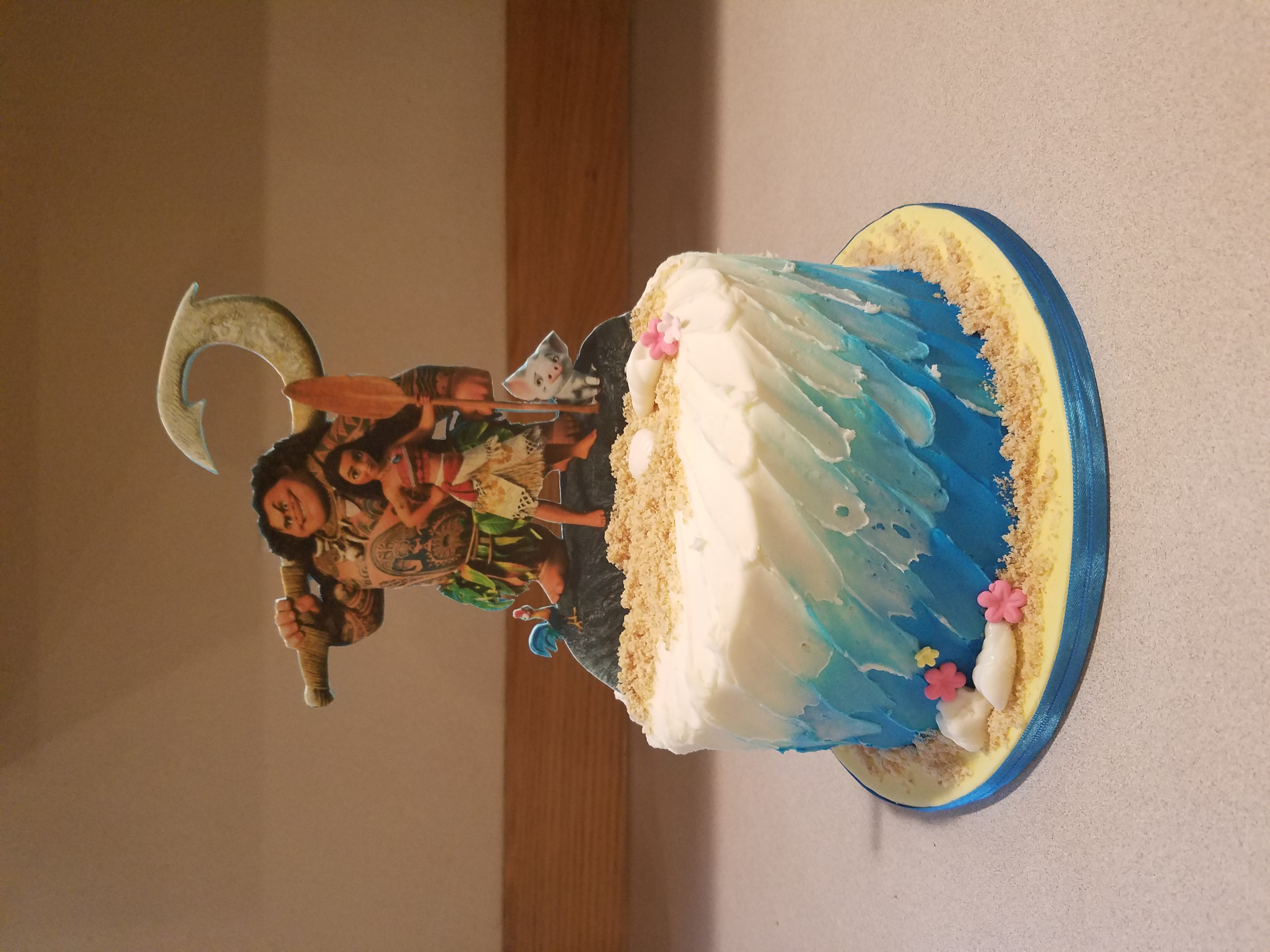 Moana inspried smash cake