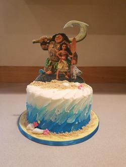 Moana inspried smash cake