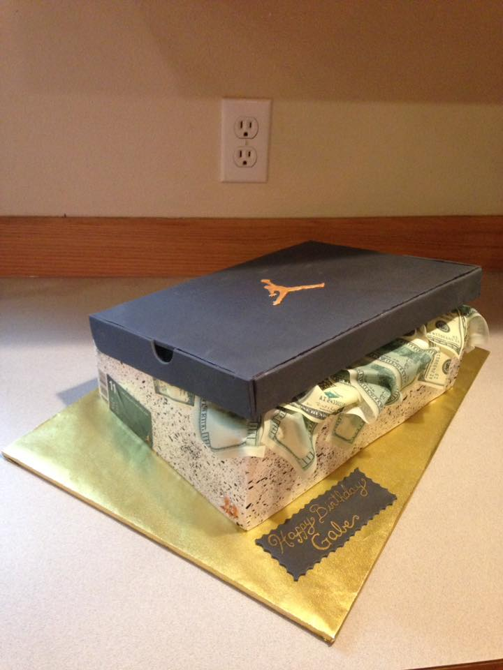 Mike Jordan Shoe box cake