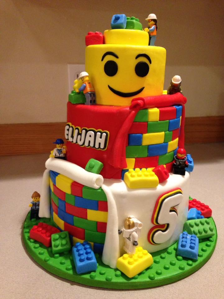 Lego builders cake