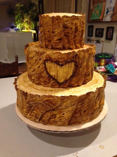 Undecorated Burl Wood Cake