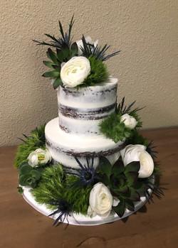 Semi Naked Greenery Cake