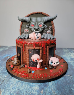 The Binding of Isaac Themed cake