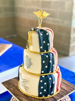 Flag wrapped promotion cake