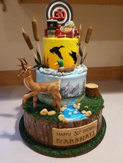A hunters birthday cake
