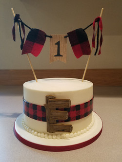 Lumber Jack smash cake