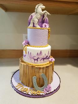 Lavander horse inspired cake