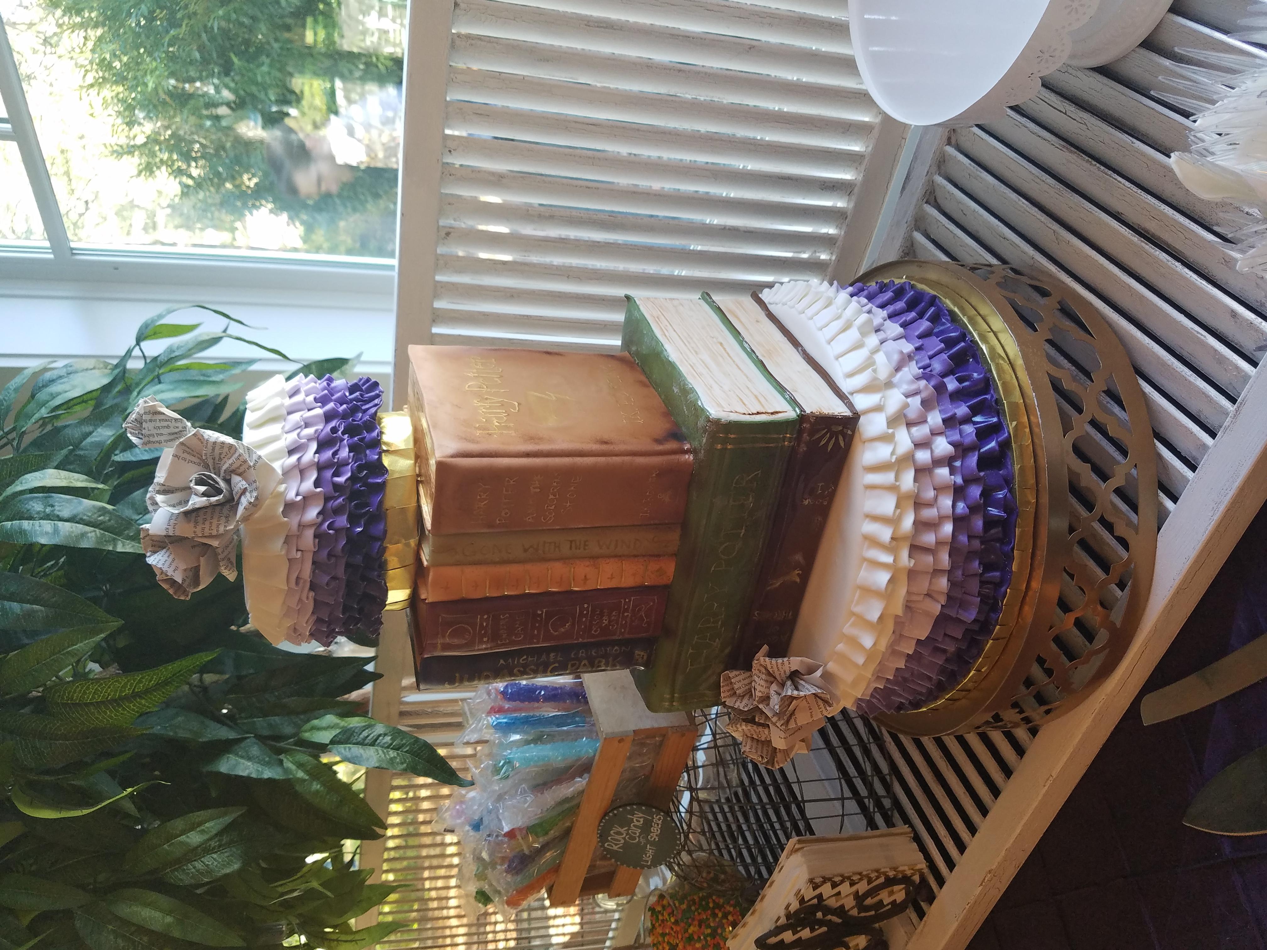 Vintage book wedding cake