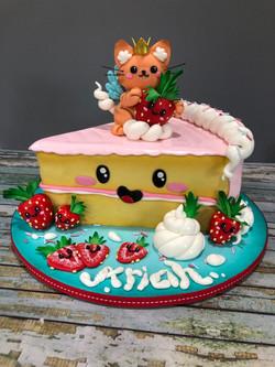 Kawaii Angel Kitty Cake