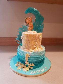 A Moana inspired cake
