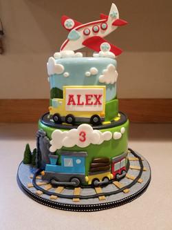 A fun transportation cake