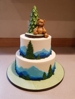 Baby Bear Mountain Cake