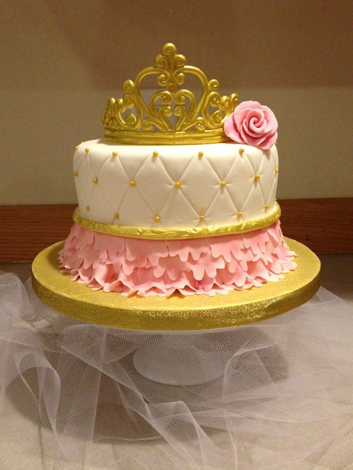 Babies first birthday princess Cake