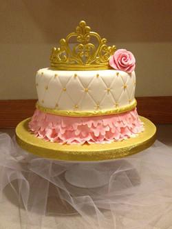 Babies first birthday princess Cake