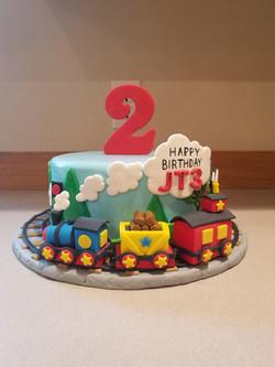 Another fun train cake