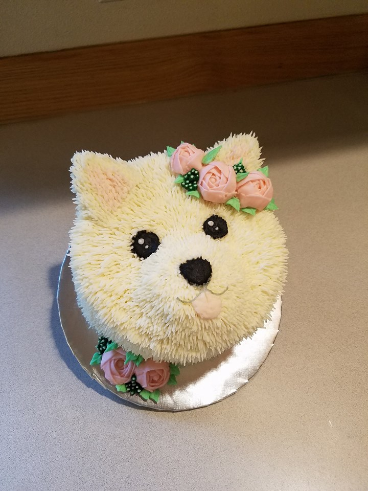 Sweet and simple all buttercream pup
