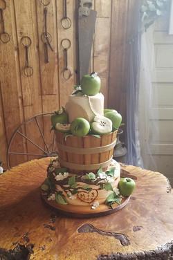 Apple Barrel Wedding Cake