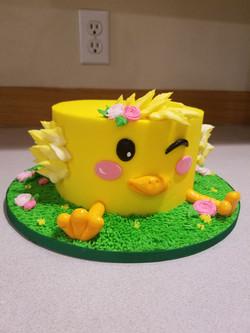 Chicky cake for egg hunt