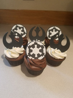 Starwars Themed cupcakes