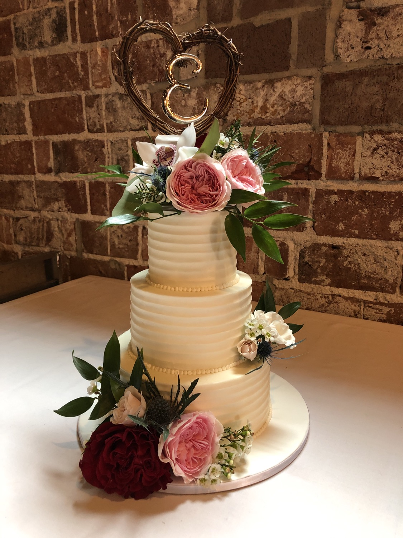 Pretty Textured Buttercream Cake