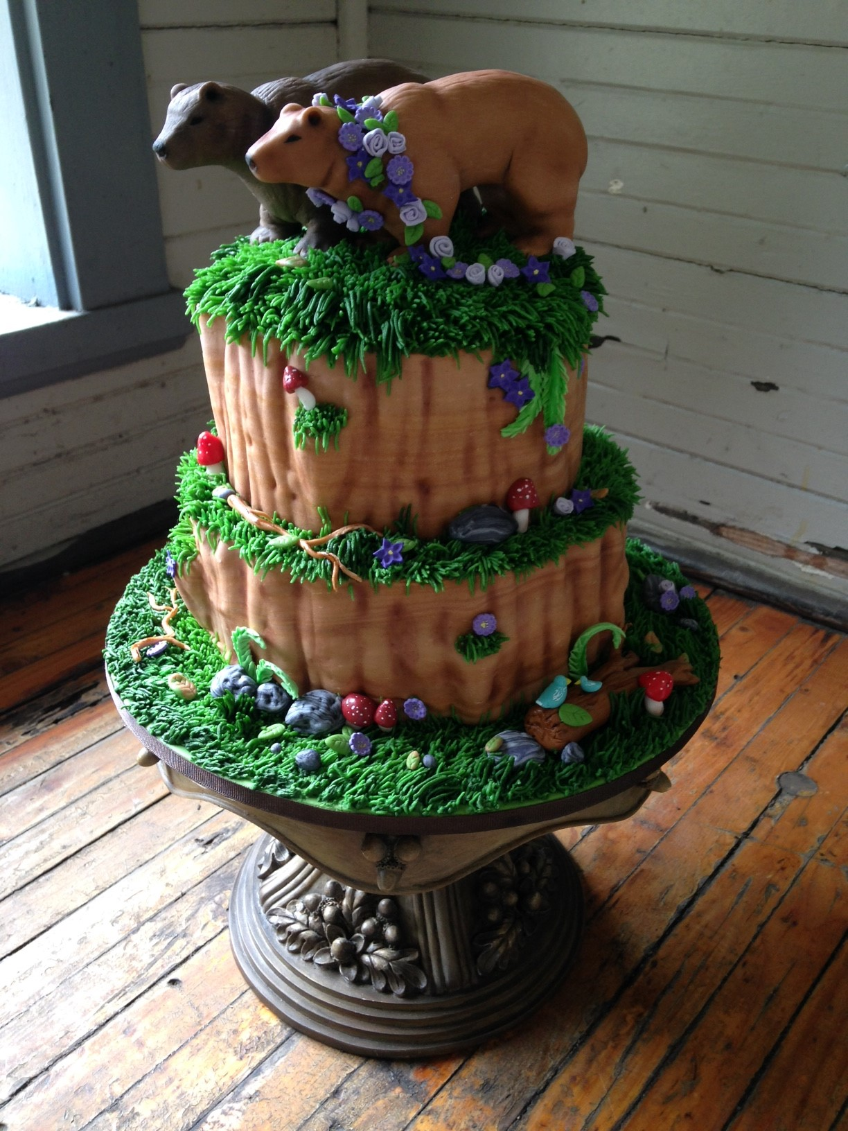 Wedding Bear Cake