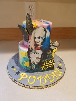Harley Quinn Inspired cake