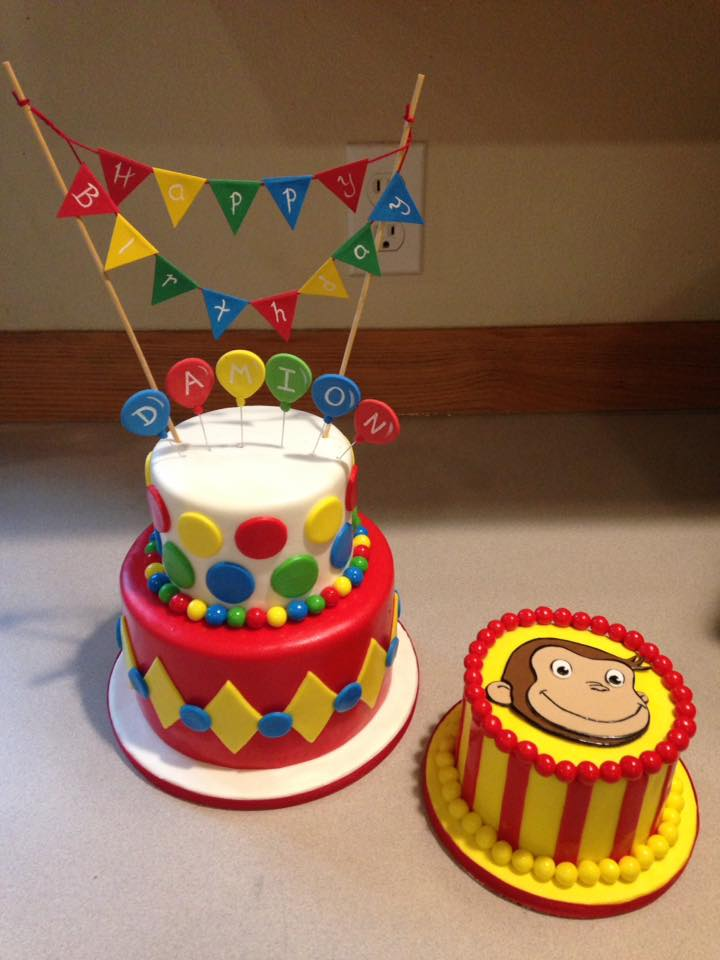 Curious George Cake set