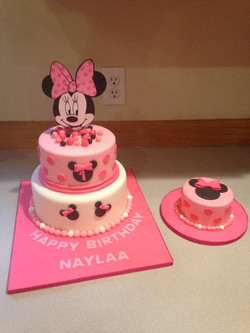 Minnie Mouse first birthday cake set
