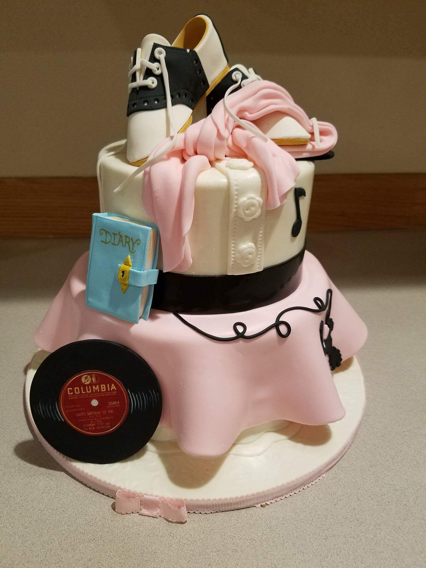 Poodle Skirt cake