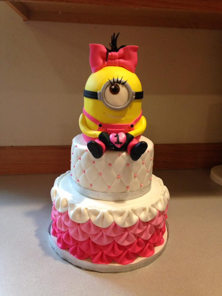 Minion girl frilly cake