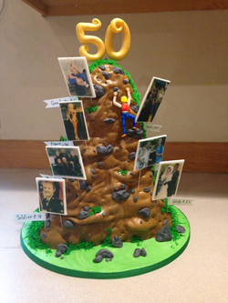 "50th birthday ""life"" cake"