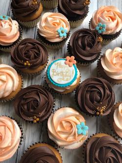 Pretty Rosette Cupcakes