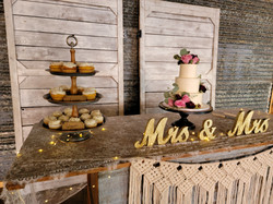 Cake and cupcake set up